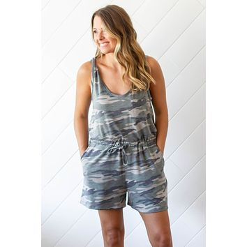 Can't See It Camo Romper