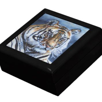 Keepsake/Jewelry Box - Bengal Tiger Head - Lacquer Box