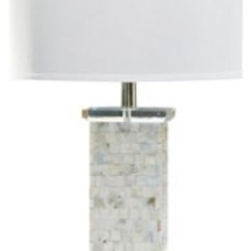 Table Lamp, Mother-of-Pearl Column Lamp, Resin, Table Lamps