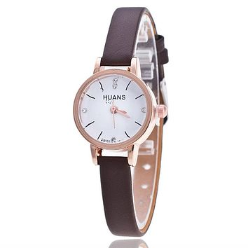 New Women Luxury Leather Geneva Neutral Watches man Unsex Watch Cheap Girls Wristwatches Gift Hours Geneva relojes mujer clock