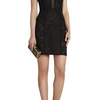 BCBG Lyla Contrast-Lace Panel Dress