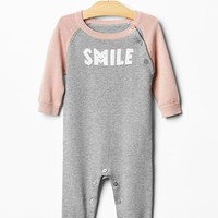 Smile Baseball Sweater One Piece
