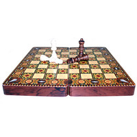 Greek Style Chess Set Laqured - 30cm