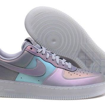 ESBY4E Nike Air Force 1 High-Top 07 LV8 3M Iridescent Anthracite Men's Casual Shoes Sneakers