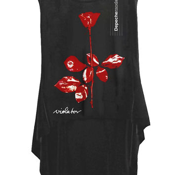 Depeche Mode Violator Hi Low Hem Sleeveless Tank Top
