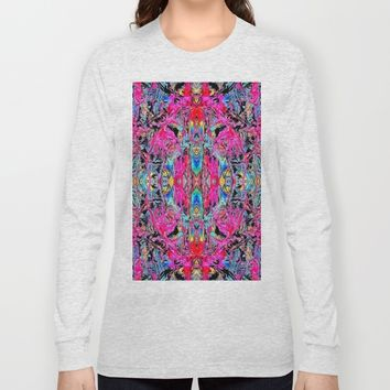 Sophisticated Psychedelic Boho Long Sleeve T-shirt by Azima