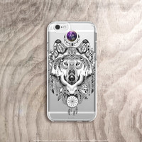 Moon iPhone 6s Case Wolf iPhone 6 Plus Case Clear Dreamcatcher iPhone Case Clear Moon Samsung Note 5 Case Wolf iPhone 6S Case
