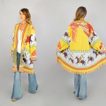 RARE Native American Blanket Jacket