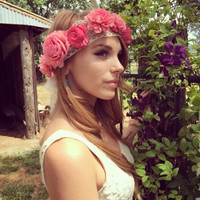 Wood Flower Lace Crown