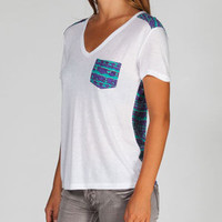 Hurley Slouchy Womens Pocket Tee White  In Sizes