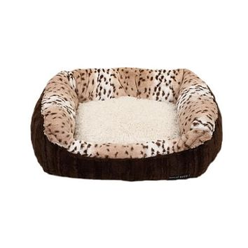 Lounge Bed — Chocolate Mink + Leopard