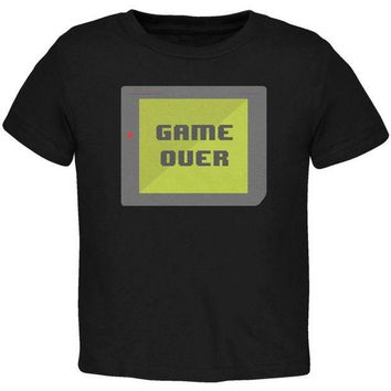 PEAPGQ9 Halloween Old School Gamer Game Over Toddler T Shirt