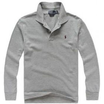 Beauty Ticks Ralph Lauren Paint Men Long Sleeve Polo Mrllp078
