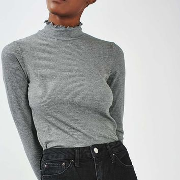 Long Sleeve Frill Neck Top - New In This Week - New In