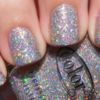Color Club - Magic Attraction - Silver Pink Holographic Holo Glitter Nail Polish