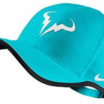 NIKE Rafa Bull Adult DRI-FIT FEATHERLIGHT Tennis Cap Blue
