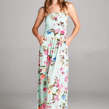 Garden Party Maxi Dress - Mint
