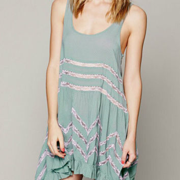 Green Sheer Lace Coverup Dress