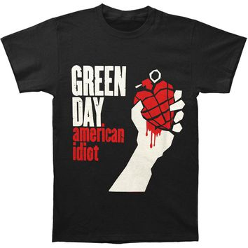 Green Day Men's  American Idiot Slim Fit T-shirt Black