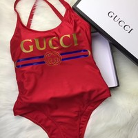 GUCCI Sparkling swimsuit with Gucci logo