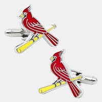 Men's Cufflinks, Inc. 'St. Louis Cardinals' Cuff Links - Red/ Yellow