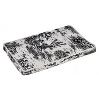 MicroVelvet Luxury Dog Crate Mattress Pad — Onyx Black Toile