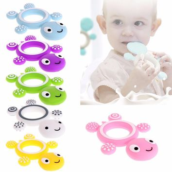 Tortoise Baby Kids Food Grade Silicone Soother Teether Teething Pacifier Safety N21