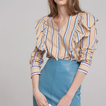 Nana Ruffle Wing Blouse Discover the latest fashion trends online at storets.com