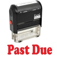 PAST DUE Self Inking Rubber Stamp - Red Ink (42A1539WEB-R)