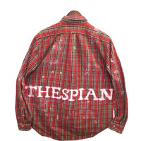 Plaid Thespian Shirt in Red Tartan