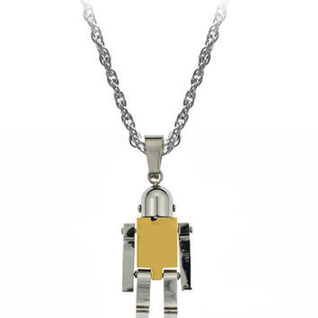 The Robot Necklace in Gold