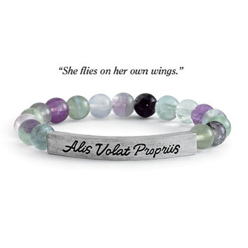 She Flies Fluorite Bracelet - Women's Clothing & Symbolic Jewelry – Sexy, Fantasy, Romantic Fashions