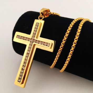 Boys & Men Hip-Hop Cross Necklace