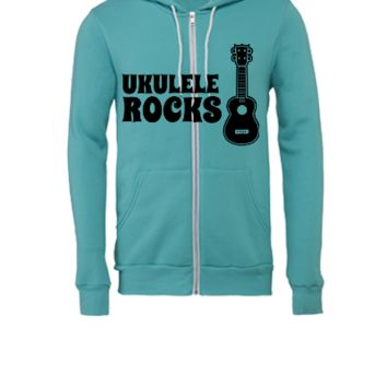 ukulele guitar - Unisex Full-Zip Hooded Sweatshirt