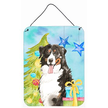 Christmas Tree Bernese Mountain Dog Wall or Door Hanging Prints CK1889DS1216