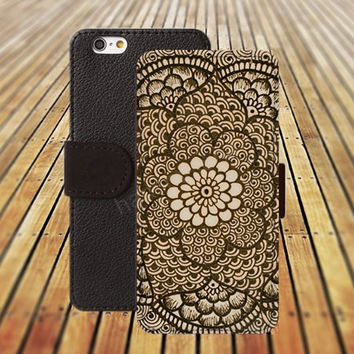 iphone 6 case textile Mandara colorful iphone 4/4s iphone 5 5C 5S iPhone 6 Plus iphone 5C Wallet Case,iPhone 5 Case,Cover,Cases colorful pattern L526