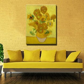Van Gogh Oil Painting Sunflower Canvas Painting Masterpiece Reproduction for living room decoration