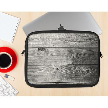 The Dark Washed Wood Planks Ink-Fuzed NeoPrene MacBook Laptop Sleeve