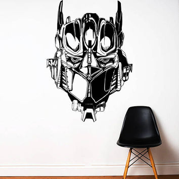 Transformers Wall Decal,Prime Wall Sticker,Bumblebee wall decal,Kids Wall sticker,Bedroom Wall Sticker,Nursery wall decal kau 264