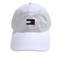 Tommy Hilfiger Baseball Hat Cap (White Medium Flag)