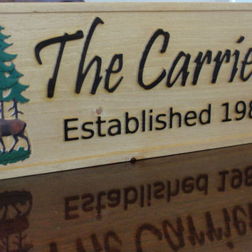 Personalized Custom Wooden Sign Cabin sign by michaelswoodworks