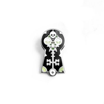 Skeleton Key Enamel Pin