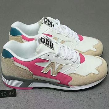 New Balance Fashion Casual Sport Running Breathable Couple Sneakers Shoes Beige+Pink G-XYXY-FTQ