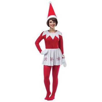 Elf On The Shelf Dress Adult Costume