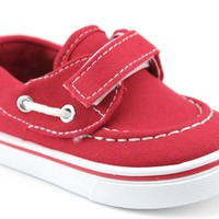 Infant Boys Navig8 Casual Canvas Boat Shoes Joy-25I Red