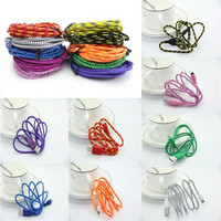 3M/10FT Knit Rope Micro USB Charger Charging Sync Data Cable Cord for Cell Phone = 1958496324