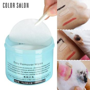 DCCKKFQ Color Salon Face Makeup Remover 100pcs Wet Wipe Eye Cleaner Make Up Oil Cleansing Eyeshadow Towel Tool Lip Clean Cotton Pads