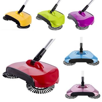 New Hand Push Sweeping Machine Stainless Steel Magic Broom Dustpan Handle Household Cleaning Hard Floor Sweeper Cleaner Tool
