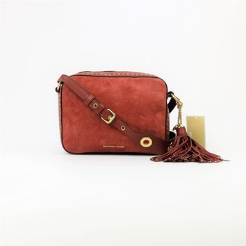 Michael Kors Brookyln Suede Large Camera Bag