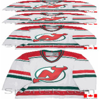 Vintage New Jersey Devils Throwback White CCM NHL Hockey Jersey-SportsK